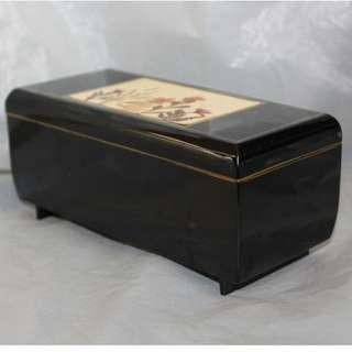 -勿壓價-藍田站面交或順豐-古董.日本漆製,音樂盒首飾箱..[.17x7.5x8]cm