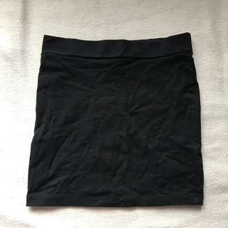 Forever 21 black bandage skirt