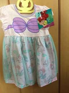 Disney Japan princess 小魚仙連身裙 80cm
