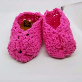 Crochet slip in girl shoe