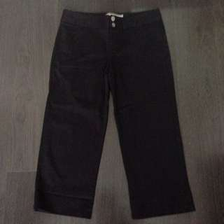 Giordano black cropped pants