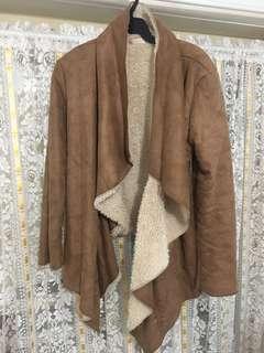 Brown furry jacket
