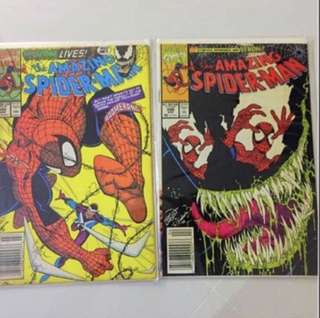 2 For $15!! Marvel Amazing Spider-Man Comics