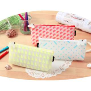 tempat pensil tahan air / pencil case waterproof - khm162 - Pink