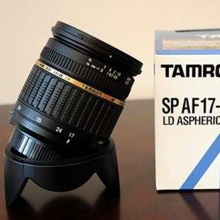 TAMRON 17-50mm f2.8 for nikon