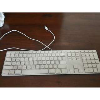 USB Connected MAC Keyboard with Numeric Pad