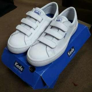 Sepatu KEDS TIEBREAK LEATHER WHITE Harga Sudah Nett