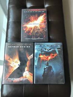 The 3 For $12!! Dark Knight Trilogy Movie DVD Christopher Nolan