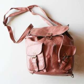 Rose Pink 3-Way Bucket Bag