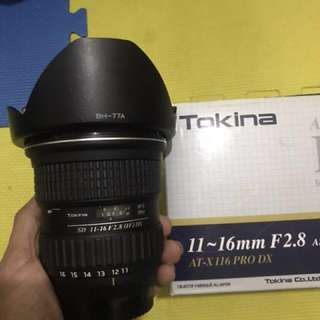 Tokina 11-16mm F2.8 AT-X PRO DX FOR NIKON