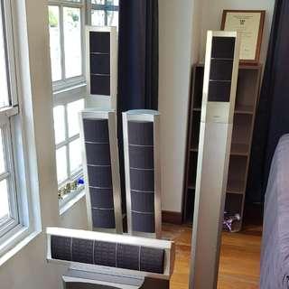 Onkyo 5 channel home theatre surround sound speakers