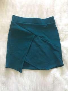 Green cross over skirt