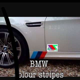 BMW color stripes
