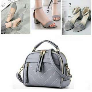paket : sepatu dan tas