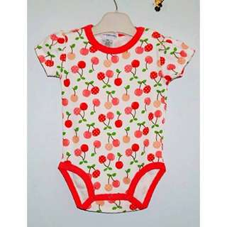 Baby Romper with Polka Dots Cherry