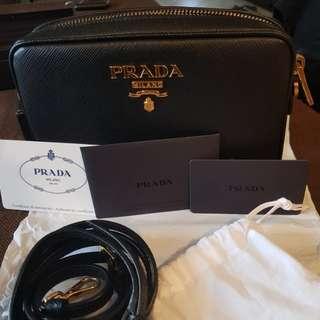Authentic PRADA Saffiano leather crossbody bag