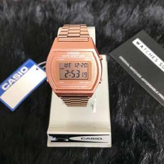Casio Ladies Rose Gold Digital Watch