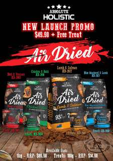 Absolute Holistic Air Dried 1kg Promotion