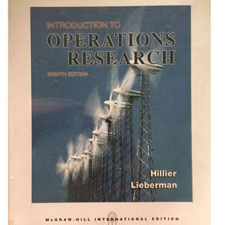 Introduction to Operations Research by Frederick S. Hillier, Gerald J. Lieberman