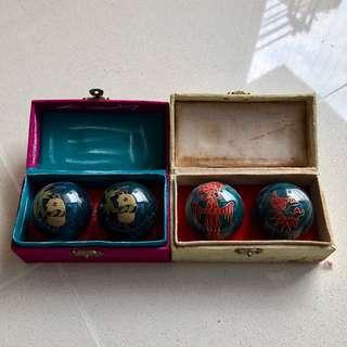 1970s Panda/Phoenix Marble balls