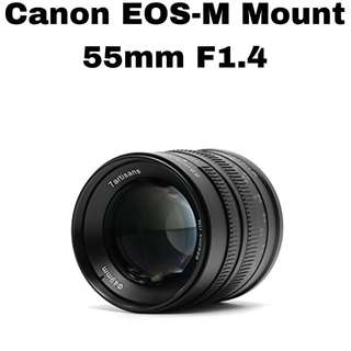 7Artisans 55mm f1.4 for Canon EOS-M Mount
