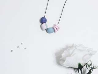 PASTEL HUES NO. 1 - Handcrafted polymer clay necklace