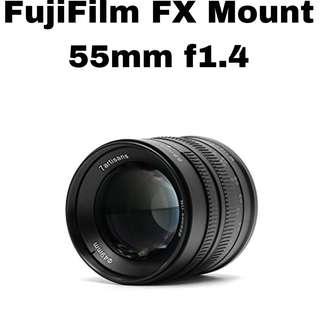 7Artisans 55mm f1.4 for FujiFilm FX Mount