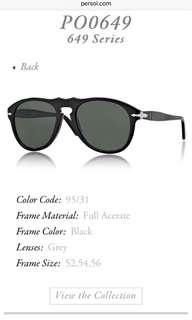 BN Persol black Sunglasses -Authentic