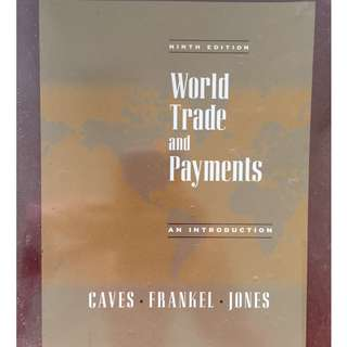 World Trade and Payments: An Introduction (9th Edition) by Richard E. Caves  (Author),‎ Jeffrey A. Frankel (Author),‎ Ronald W. Jones (Author)