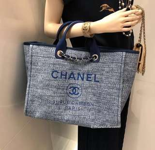 Chanel牛仔布袋