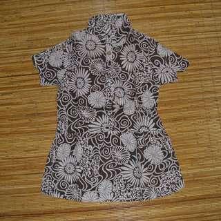 baju floral bunga-bunga wanita