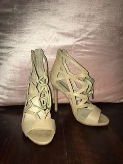 Nude Lace-up Heel
