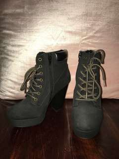 Lace-Up Block Heel