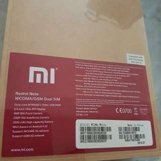 Redmi Note 3G BNIB