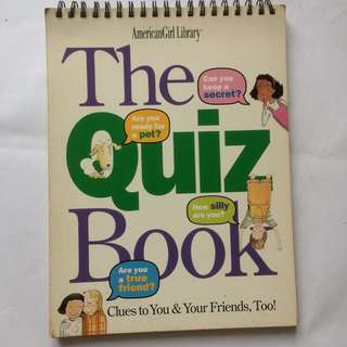 The Quiz Book by American Girl Library