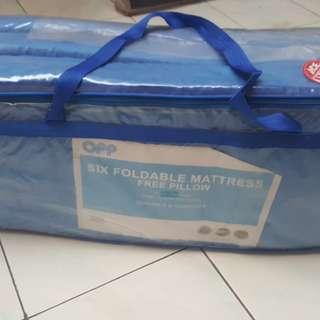 Kasur matras 6 lipat free bantal (barang Ace Hardware)