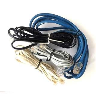 Set of 4 Ethernet/Modem/Telephone Cables