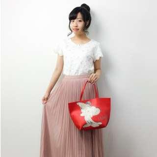 日本 COLORS By Jennifer X 迪士尼 Mickey Mouse 紅色皮革 手挽袋