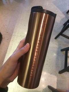 Starbucks Reserve tumbler gold