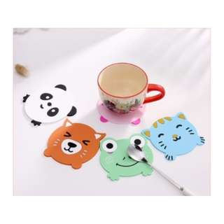 Tatakan gelas alas mug cup pad motif binatang lucu souvenir - HKN227