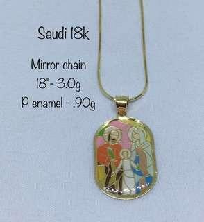 Mirror Chain Gold Jewelry