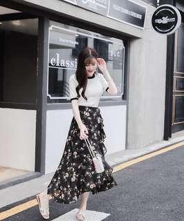 [NEW] Floral Flower Flare Skirt
