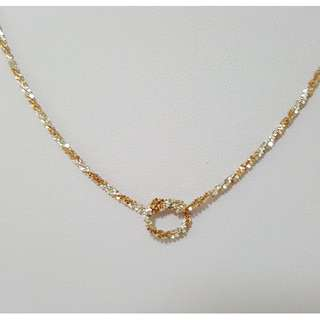 Italy Rose Gold combine with 925 Sterling Silver Necklace. LCN003