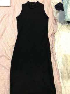 Zara bodycon black dress