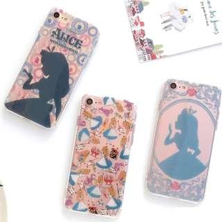 手機殼IPhone6/7/8/plus(沒有X) : 愛麗絲公主透明殼