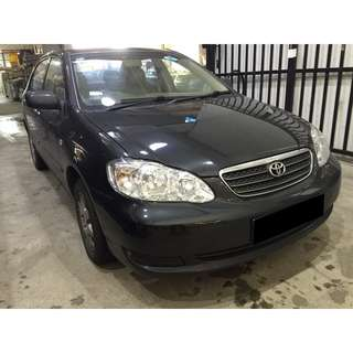 23/03-26/03/2018 TOYOTA ALTIS ONLY $180.00 (P PLATE WELCOME)