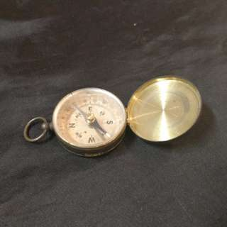 Old compass, copper case