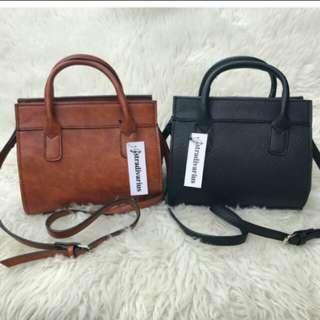 Sale ! Stradivarius hand bag tas brown black stradiv