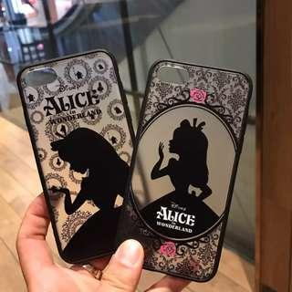 手機殼IPhone6/7/8/plus(沒有X) : 黑影愛麗絲浮鵰黑邊軟殼