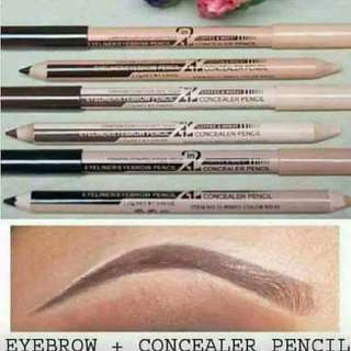 Eyebrow pencil and concealer 2in1